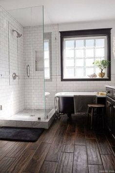 77 Fabulous Modern Farmhouse Bathroom Tile Ideas 25