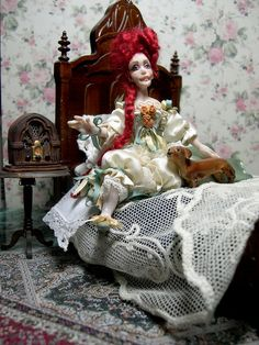 Dollhouse Miniature poseable Victorian/Edwardian Doll OOAK via Etsy
