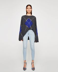 ZARA - WOMAN - MID-RISE JEANS WITH SHINY FAUX PEARLS