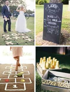 Interactive weddings leave lasting impressions on your guests and keep people talking about your event for years to come. wedding games 12 Ways To Make Your Wedding Interactive - LinenTablecloth Wedding Yard Games, Wedding Reception Activities, Wedding Games For Guests, Wedding Signs, Diy Wedding, Fall Wedding, Rustic Wedding, Dream Wedding, Wedding Decorations