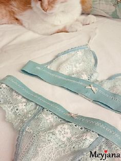 Нижнее белье, бандажи handmade - Meyjana. The bottom set of blue lacy lingerie…