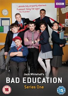 Bad Education (TV Series 2012-2014)  A comedy series about a teacher who is a bigger kid than the kids he teaches.