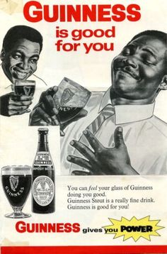 Guiness is good for you. Part of a 1968 advertising sheet for Guinness after they established a brewery in Sierra Leone Vintage Humor, Funny Vintage Ads, Pub Vintage, Weird Vintage, Vintage Posters, Funny Ads, Vintage Black, Old Advertisements, Retro Advertising