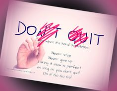 Never ever quit on yourself, your dreams, your goals, be a winner, don't give up. You will fail many times, everyone does. Don't let this stop you from reaching your goals! facebook.com/anjawincoach