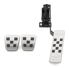 2005-2013 Chevrolet Corvette Stainless Steel Pedal Covers by GM Manual 19155308 12 month warranty. Genuine GM Part. OEM Quality.  #Chevrolet #Automotive_Parts_and_Accessories