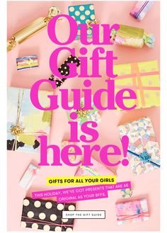 OUR GIFT GUIDE IS HERE! We've got presents as original as your BFFs. SHOP NOW.