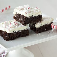 Peppermint Bark Brownies - the perfect holiday treat!