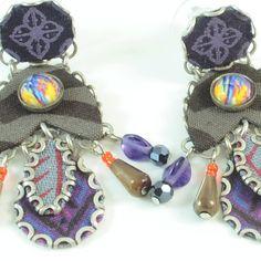 Gorgeous deep purple Bohemia earrings handmade in Israel Handmade Sterling Silver, Sterling Silver Earrings, Silver Jewelry, Silver Earrings Online, Designer Earrings, Deep Purple, Earrings Handmade, Israel, Glass Beads