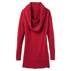 Cashmere Teton Tunic - The yummy full cashmere tunic sweater with a slouchy rib cowl neck that makes the perfect outfit when you just add leggings.