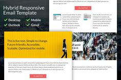 Hybrid Responsive Email Template by Ted Goas on @creativemarket