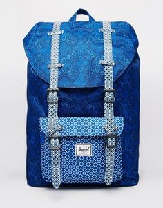 218238a77ca Herschel Supply Co Little America Backpack in Tile Print at asos.com