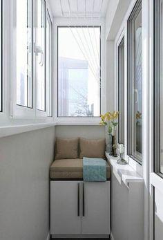Фотографии ДИЗАЙН ХРУЩЕВКИ Balcony Design, Balcony Ideas, Small Terrace, House Design, Design Design, Sweet Home, Woodworking, Storage, Furniture