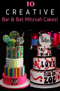 Not only are these Bar and Bat Mitzvah Cakes creative & amazing to look, but they taste fantastic too!
