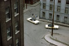 Fred Herzog, Two Cars, Quebec, 1969