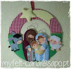 My Felt: christmas Nativity Ornaments, Felt Christmas Ornaments, Christmas Nativity, Christmas Time, Christmas Wreaths, Christmas Projects, Felt Crafts, Christmas Crafts, Art Fil