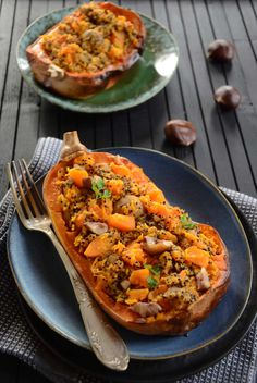 Courges butternut marrons et quinoa Quick Healthy Meals, Healthy Dinner Recipes, Cooking Recipes, No Cook Meals, Family Meals, Food Inspiration, Delish, Brunch, Food And Drink