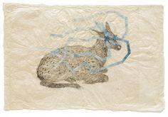 Kiki Smith, Everywhere (Sitting Fawn), 2010, Tusche auf Nepalpapier, 50,2 x 74,9cm  Barbara Gross, München via art-in