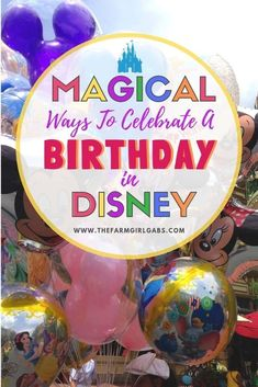 Celebrating a birthday in Walt Disney World? There is nothing more magical then spending your vacation AND birthday at Walt Disney World. Here are some fun ways to celebrate your special day in Disney. Disney Planning Tips Disney World Birthday, Disneyland Birthday, Disneyland Tips, Birthday Kids, Birthday Bash, Birthday Cakes, Birthday Parties, Disney World Secrets, Disney World Tips And Tricks