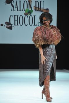 Salon Du Chocolat fashion show in Paris, the clothes are (mostly) made of chocolate.