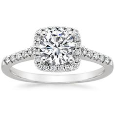 18K White Gold Sonora Halo Diamond Ring (1/4 ct. tw.) from Brilliant Earth