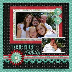 Family Digital Scrapbook Layout  #digitalscrapbooking #scrapbooking