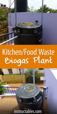 Turn kitchen waste (compost) into biogas in a 750-liter tank.