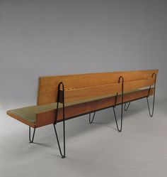 Luther Conover; Bench, c1950.