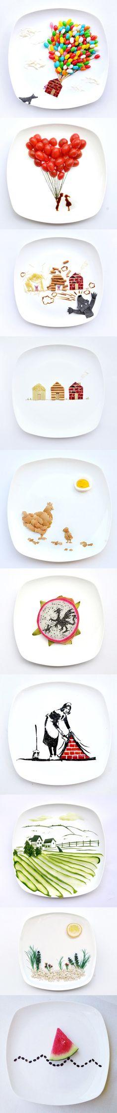 Une nouvelle tendance : le food art.  Et si on mettait de l'art dans l'assiette de bébé ?