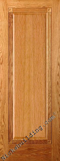 Victorian oak door - fancy rosettes in corners <3 bought at www.nicksbuilding.com #singlepanelinteriordoors #rusticinteriordoors #alderinteriordoors Oak Interior Doors, Oak Doors, Wooden Doors, Interior And Exterior, Doors Online, Rosettes, Victorian Fashion, French Doors, Solid Wood