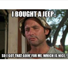 Bill Murray owns a Jeep! Jeep Meme, Jeep Jk, Jeep Humor, Golf Humor, Jeep Wrangler, Jeep Funny, Best Funny Pictures, Funny Photos, Golf Pictures
