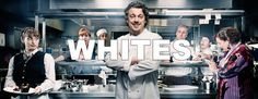 """The British television show """"Whites"""" presents numerous social memes of the restaurant industry while identifying some key psychographics of employees in the restaurant industry. While the show is a comedy first and foremost, the characters personify many stereotypical members of the restaurant industry and their fashion decisions. Even the show name, """"Whites"""", refers to a slang term describing a chef's uniform. Show available on Hulu. Photo Source: Brits in LA Blog"""
