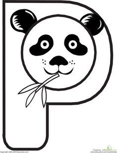 Worksheets: Animal Alphabet: P