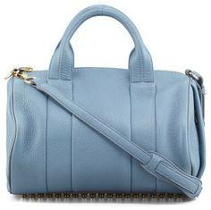 Alexander Wang Rocco Stud-Bottom Satchel Bag