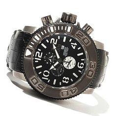Invicta Reserve Mens Sea Hunter Limited Edition Swiss Chronograph Quartz Strap Watch