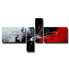 Artist: UnknownTitle: Abstract435Product type: Hand painted gallery wrapped canvas art set