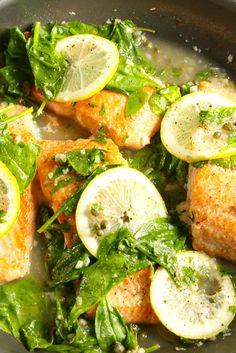 Best Garlic Lemon Salmon Recipe - How to make Garlic Lemon Salmon - Delish.com