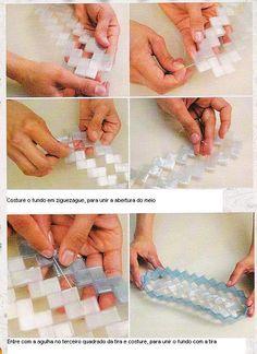 Como fazer trançado de PET para bolsa by tupi, via Flickr