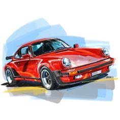 Motor Vehicle, Motor Car, Rendering Art, Street Racing Cars, Car Colors, Car Posters, Car Images, Automotive Art, Car Painting