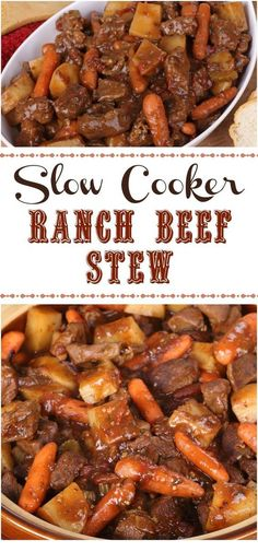 Ranch Crock Pot Beef Stew If you have a long, hard day ahead of you.this recipe will cook for up to 9 hours without burning or causing problems in most every crockpot. Slow Cooker Stew Recipes, Slow Cooked Meals, Crock Pot Slow Cooker, Crock Pot Cooking, Cooking Recipes, Beef Stew Crock Pot, Beef Stew Crockpot Recipe, Healthy Recipes, Slowcooker Beef Stew