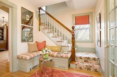 Just Love This...Soft, Warm Colors, Patterns, Mirror, Detailing, Great Use of Space!