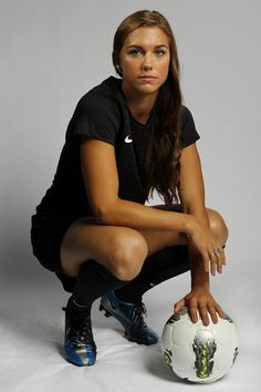 Soccer player Alex Morgan poses for a portrait during the 2012 U.S. Olympic Team Media Summit in Dallas, Texas May 15, 2012. Scripps Howard News Service/Michael Zamora