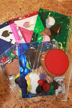 Make busy bags for you kids to keep them from getting bored or spending to much time in front of the TV. Just grab some felt and get to creating.