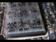 Just a quick idea on how to store those dollar clear stamps. Scrapbook Storage, Scrapbook Organization, Scrapbook Paper, Rubber Stamp Storage, Craft Room Storage, Storage Ideas, Craft Rooms, Paper Storage, Storage Solutions