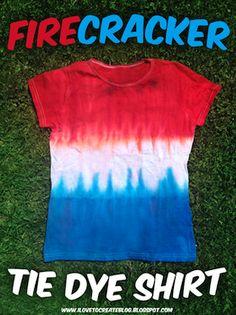 firecracker tie dye t-shirt 4th of July shirt