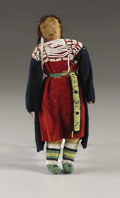 A PLAINS BEADED CLOTH FEMALE DOLL. . c. 1890. ... American Indian | Lot #77211 | Heritage Auctions