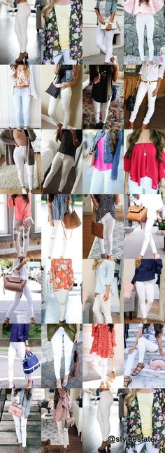 This is Part 2 -- check out 🔝 101 🔥 Ways To Style White Jeans This Summer  ☀️ --Follow Me✔️Pinterest/styleestatefor all of my latest outfits and  fashion posts. 🌹💞🌹