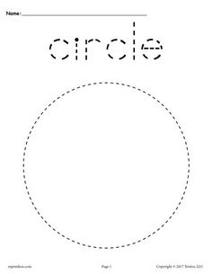 Circle Tracing Worksheet - Tracing activities develop a childs control of the small muscles of the hands fine motor skills improving handeye coordination. Learning shapes and co. Shape Tracing Worksheets, Tracing Shapes, Printable Preschool Worksheets, Handwriting Worksheets, Free Preschool, Preschool Curriculum, Preschool Learning, Kindergarten Worksheets, Preschool Activities
