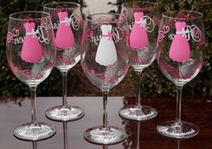 Cute idea for a party favor for each bridesmaid.