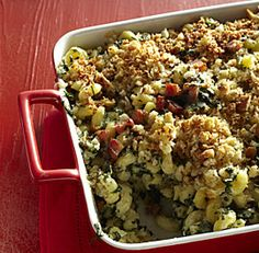 Hearty Bacon-Kale Macaroni and Cheese - Get some great La Quercia Tamworth Bacon and have it with your dark leafy greens and mac & cheese!