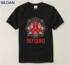 e5802af07ed Different Mens Tee Shirt Funny Defqon 1 Men's T Shirt Cartoon Black Loose T- Shirt